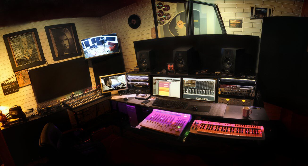 Mixing room at Sound Guru Studios