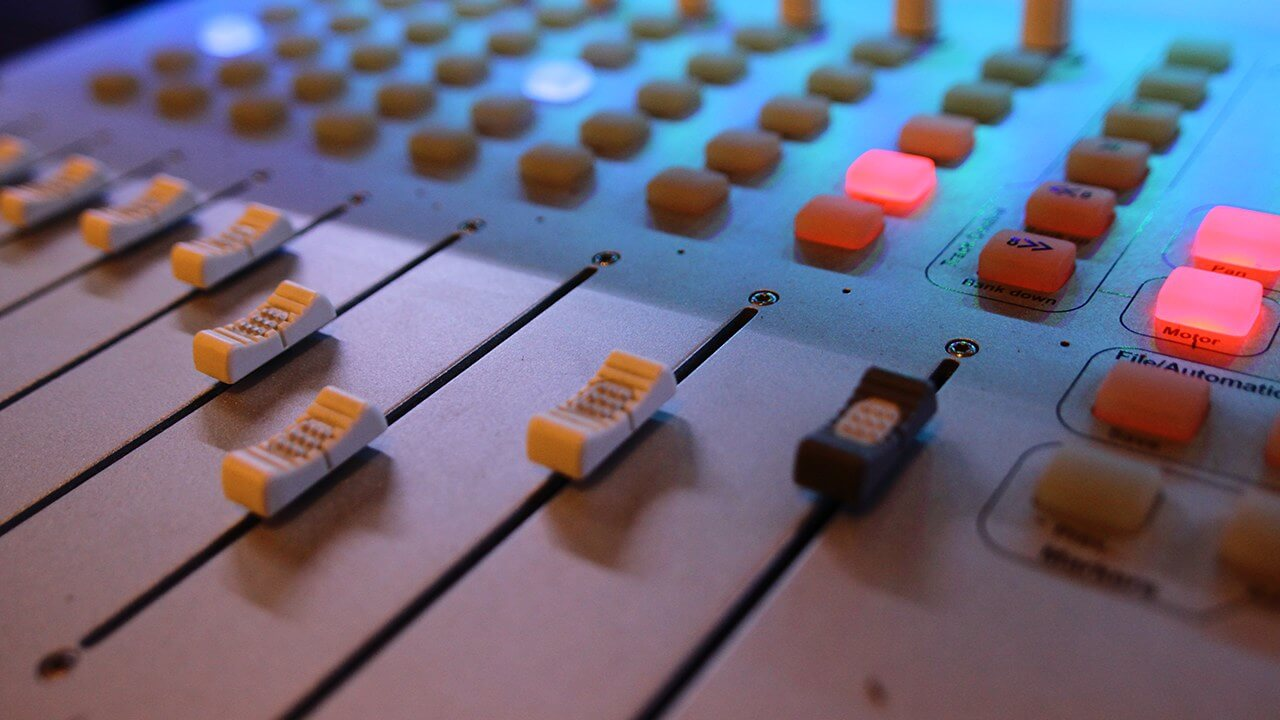 audio mixer faders - header image