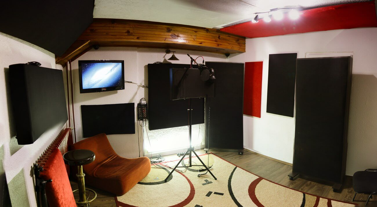Studio recording room